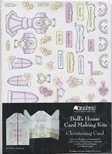 KANBAN Doll's House A5 CHRISTENING Card Making Kit Inc Toppers & Card Blank