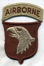 US Army 101st Airborne Division DCU Desert Tan Patch W/Tab