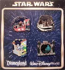 DISNEY STAR WARS IN THE PARK BOOSTER SET-  4 PIN COMPLETE SET- NEW & SEALED