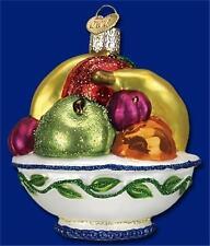 FRUIT BOWL OLD WORLD CHRISTMAS GLASS APPLE ORANGE BANANA PEAR ORNAMENT NWT 28101