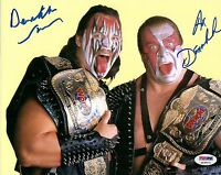 Demolition Ax & Smash Signed 8x10 Photo WWE PSA/DNA COA w/ WWF Tag Team Belts