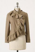 Anthropologie RUFFIAN MISE SCENE 2 Well Wisher Jacket Coat Ruffle Linen Silk NWT