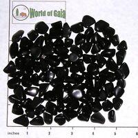 OBSIDIAN, BLACK, mini-xsm tumbled 1/2 lb bulk stones Volcanic Glass