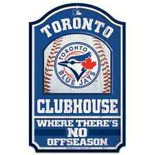 """TORONTO BLUE JAYS COUNTRY WOOD SIGN 11""""x17"""" BRAND NEW FREE SHIPPING WINCRAFT"""
