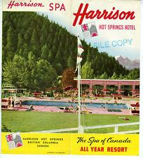 1953 Brochure Harrison Hot Springs Hotel British Columbia Canada