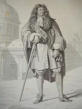 SIÈCLE DE LOUIS XIV / GRAVURE 1840 / LAFONTAINE