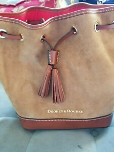 Dooney & Bourke Suede Drawstring Bucket Bag