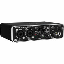 Behringer UMC202HD mint Audio/MIDI Interface 2 Ins / 2 Out w/ USB Cable