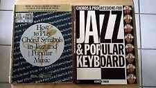Lot of 2 Jazz Chord & Progression Music Books