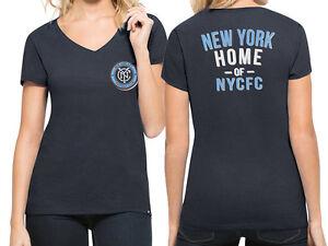 MLS New York City Football Club Women's '47 V-Neck Tee, Fall Navy Size M-XL
