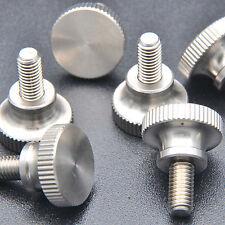 4pcs M5 x 10mm Knurled Flat Head Thumb manual adjustment stainless steel Screw