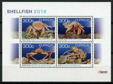 Curacao 2019 MNH Shellfish Hermit Crab 4v M/S Crabs Crustaceans Marine Stamps
