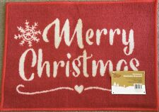 Bnwt Christmas Washable Doormat Merry Christmas