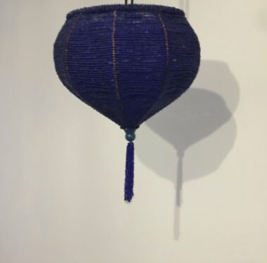 Moroccan beaded ceiling lampshade, new