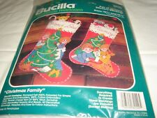 Bucilla  82140 Christmas Family 2  Felt Jeweled Christmas Stockings Kit Complete