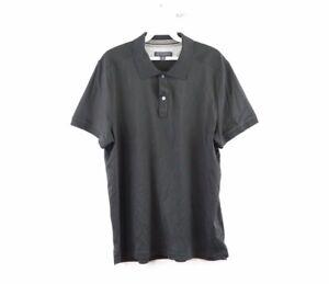 Banana Republic Mens Large Casual Short Sleeve Golfing Golf Polo Shirt Black