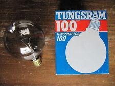 RARE 1 x TUNGSRAM Globe g100 fumée Fume Gris 100 w 100 mm e27 240 V 100 W g95