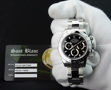 ROLEX - DAYTONA Stainless Steel Black Index Dial - 116520 - SANT BLANC