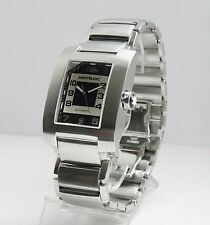 MONTBLANC SS PROFILE XL SQUARE FACE AUTOMATIC WATCH 7058 BRACELET