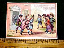 1870s School House Kids Books Diamond Dyes 10 Cents Victorian Trade Card F5