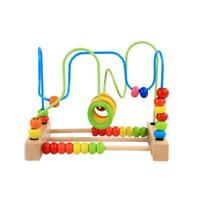 Counting Bead Educational Toys Abacus Maze Roller Coaster Wooden Baby Toy