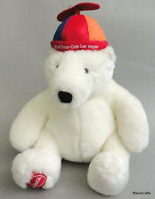 Boyds Bears Promo Polar Bear Teddy Plush Coca Cola Vegas 12in Beanie Hat 2006