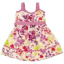 New Girls Dress Size 7 Summer Casual Dresses Girl Purple Floral Kids Sundress