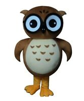 Brown Owl Mascot Costume Cosplay Cartoon Party Fancy Dress Outfit Adults Parade