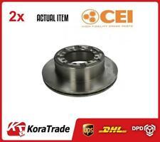 2 x REAR C.E.I BRAKE DISC SET 215123