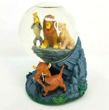 Walt Disney Snowglobe Snowdome Lion King Music Box Circle Life Simba Pride Rock