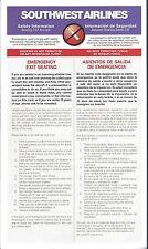 Safety Card - Southwest - B737 - 11/00 - 2000   (S3678)