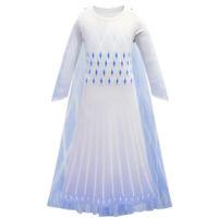 Girls Princess Queen Elsa Dress Cosplay Costume Kids Birthday Party Fancy Dress