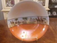 Serving Bowl Made in Germany 9 inch Round Egypt Pyramid Scene