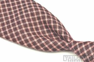 "TOM FORD Pink Black Plaid Check Cashmere Silk Mens Luxury Tie - 3.50"""