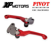 CNC FLEX Pivoting Levers Brake Clutch Lever Set For Honda CRF450R 2002 2003 Red
