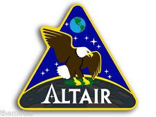"4"" NASA ALTAIR SPACE LOGO HELMET CAR BUMPER EMBLEM DECAL STICKER MADE IN USA"