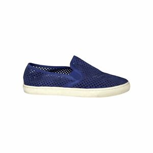 Tory Burch Jesse Perforated Sneaker Blue Suede Slip On Beach Women's Size 11