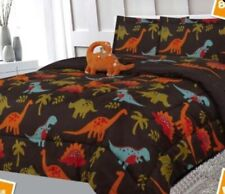 Comforter Kids 6 piece Dinosaurs Bed In A Bag Flat Fitted Sheets Set Twin Size