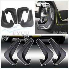 4 Pcs EVA Plastic Autos Fender Mud Flaps Splash Guards Protector Mudgurads Black