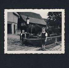 """LOSSBURG Lkrs Freudenstadt / """"An der Tränke"""" Kinder & Pferde * Foto 1934"""