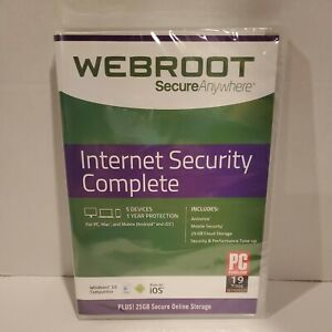 Webroot Internet Security Complete (5 Devices) For Windows, Mac, Android, iOS