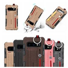 for Samsung S10 S8 S9 Note 10 8 9 S10 CASE Cloth Leather Wallet Case Wrist Strap