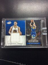 2017-18 PANINI ETERNAL Klay Thompson NBA FINALS GAME Used JERSEY WARRIORS 2/25