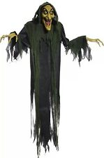 Halloween LifeSize Animated HANGING WITCH Prop Haunted House Swamp Evil Hag