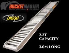 excavator, bobcat, positrack loading ramps 2.3T