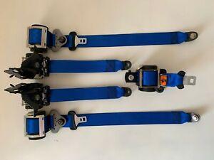 Juego de 5 cinturones de seguridad azules Mazda 3 MPS Mazdaspeed seatbelt