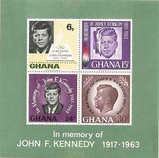 Ghana - In Memory of John F.Kennedy 1917-1963 ~ A-64 12/16/65 OG