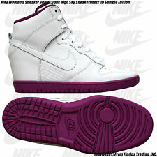 "NIKE Women's Sneaker ""Dunk High Sky Sneakerboots"" iD Sample(9)White/Purple no iD"