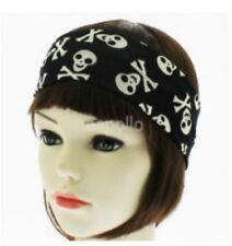 Unisex Skull & Crossbones Black & White Headband - Brand New