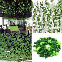 DIY Aritifical Fake Plants Green Ivy Vine Leaf Flower Foliage Garland Home Decor